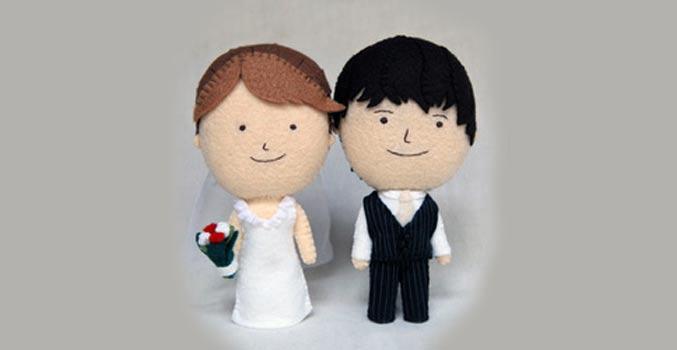 Bröllopsgåva docka Herbert & Friends