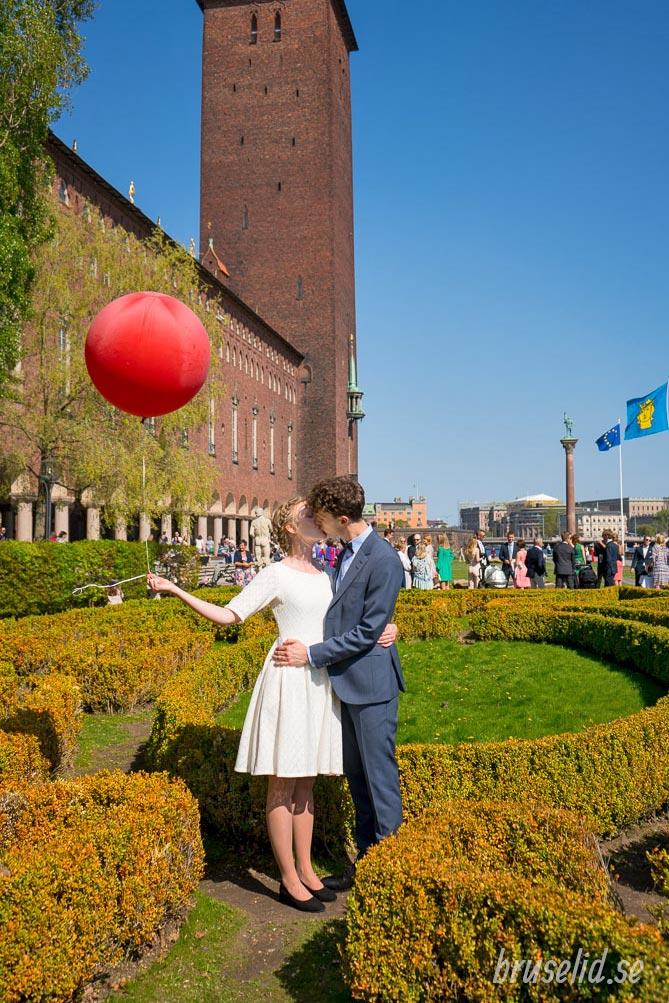 bröllopsfotografering stadshuset